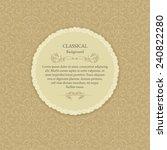 invitation card. wedding... | Shutterstock .eps vector #240822280