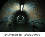 dark dawn and terrible tunnel ... | Shutterstock . vector #240824938