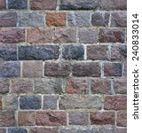 seamless stone wall from a... | Shutterstock . vector #240833014