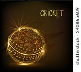 cricket sports concept with... | Shutterstock .eps vector #240865609