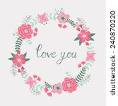 love you greeting card | Shutterstock .eps vector #240870220