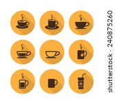 vecter coffee cup and tea cup... | Shutterstock .eps vector #240875260
