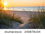 sunset over the sea | Shutterstock . vector #240878104