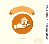 hand holding a house icon. home ... | Shutterstock .eps vector #240885769