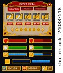 medieval game gui pack. vector...