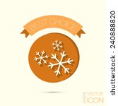 snowflake sign. the weather icon | Shutterstock .eps vector #240888820