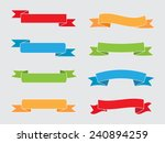 color ribbon banners.vector... | Shutterstock .eps vector #240894259