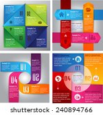 colorful modern cycle text box... | Shutterstock .eps vector #240894766