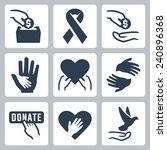 charity related vector icon set | Shutterstock .eps vector #240896368