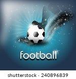 illustration of football ball... | Shutterstock . vector #240896839