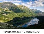 tatra mountains. morskie oko... | Shutterstock . vector #240897679