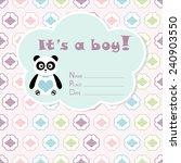 baby boy arrival card. baby... | Shutterstock .eps vector #240903550