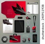 stationery set design geometric ...   Shutterstock .eps vector #240911938