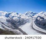 the gorner glacier  a valley...