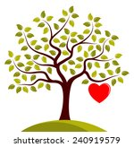 vector tree with one big heart... | Shutterstock .eps vector #240919579