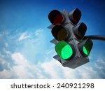 green traffic light against... | Shutterstock . vector #240921298