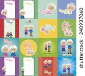 abstract set of grandparents... | Shutterstock .eps vector #240937060