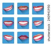 set of smiles   Shutterstock .eps vector #240941950