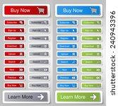 vector buttons for website or... | Shutterstock .eps vector #240943396