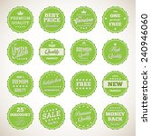 vintage labels set   vector... | Shutterstock .eps vector #240946060