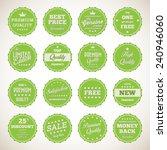 vintage labels set   vector... | Shutterstock .eps vector #240946060