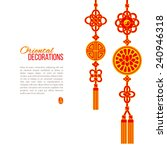 oriental asian red and golden... | Shutterstock .eps vector #240946318