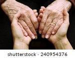 support and help the elderly | Shutterstock . vector #240954376