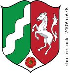 coat of arms of north rhine... | Shutterstock .eps vector #240955678