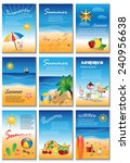 summer placard template set  ... | Shutterstock .eps vector #240956638