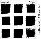 9 vector grunge shapes. | Shutterstock .eps vector #240960460
