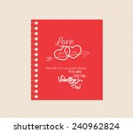 valentines day greeting card... | Shutterstock .eps vector #240962824