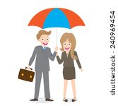 young smiling businessman and... | Shutterstock .eps vector #240969454