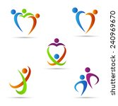 abstract people logo vector... | Shutterstock .eps vector #240969670