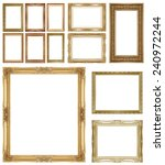 gold  picture frame isolated on ... | Shutterstock . vector #240972244