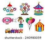 amusement park cartoon | Shutterstock .eps vector #240980059