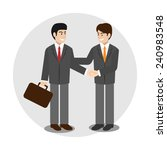 business partner. vector... | Shutterstock .eps vector #240983548