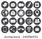 media and communication icons ... | Shutterstock .eps vector #240986953