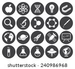 science icons  modern flat... | Shutterstock .eps vector #240986968