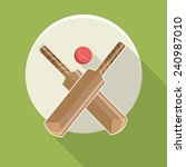 sticker or label with cricket... | Shutterstock .eps vector #240987010