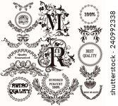 vector set of labels for design.... | Shutterstock .eps vector #240992338