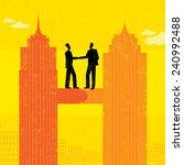 business merger | Shutterstock .eps vector #240992488