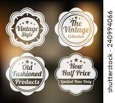 set of four retro label for...   Shutterstock .eps vector #240994066