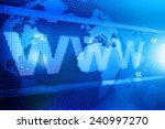 world wide web www letter on... | Shutterstock . vector #240997270