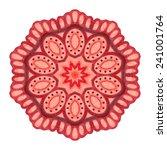 round ornament pattern | Shutterstock .eps vector #241001764