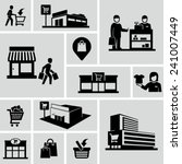 shopping mall icons | Shutterstock .eps vector #241007449