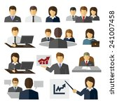 business office people vector... | Shutterstock .eps vector #241007458