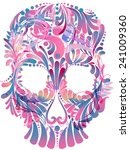 skull with floral pattern | Shutterstock .eps vector #241009360