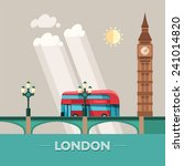London  England  City Vector...