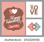 happy valentines day cards with ... | Shutterstock .eps vector #241020430
