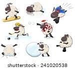 Set Of Cartoon Vector Sheeps I...
